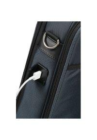 Niebieska torba na laptopa Samsonite elegancka #9