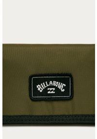 Zielony portfel Billabong gładki