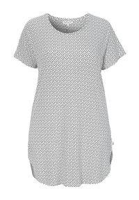 Biała piżama Zhenzi w kropki, krótka