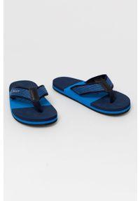 GANT - Gant - Japonki Palmworld. Kolor: niebieski. Materiał: materiał, guma. Obcas: na obcasie. Wysokość obcasa: niski
