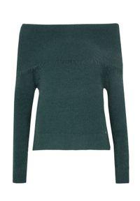 Zielony sweter TOP SECRET na co dzień, długi, w kolorowe wzory, z golfem #6