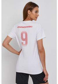 4f - 4F - T-shirt. Kolor: biały. Materiał: dzianina. Wzór: nadruk