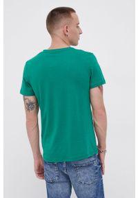 Jack & Jones - T-shirt bawełniany. Okazja: na co dzień. Kolor: zielony. Materiał: bawełna. Wzór: nadruk. Styl: casual