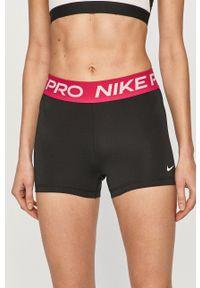Nike - Szorty. Kolor: różowy. Wzór: nadruk
