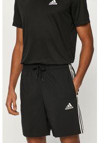 Czarne szorty Adidas na co dzień, sportowe, gładkie