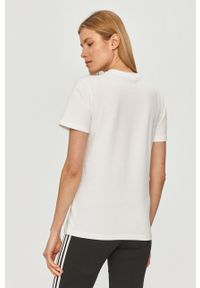 Biała bluzka adidas Originals na co dzień, z nadrukiem, casualowa