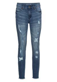 """Dżinsy Super Skinny """"push up"""", w krótszej długości bonprix niebieski """"stone"""". Kolor: niebieski. Długość: krótkie"""