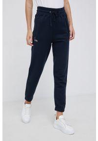 Mos Mosh - Spodnie. Kolor: niebieski. Materiał: dzianina. Wzór: gładki