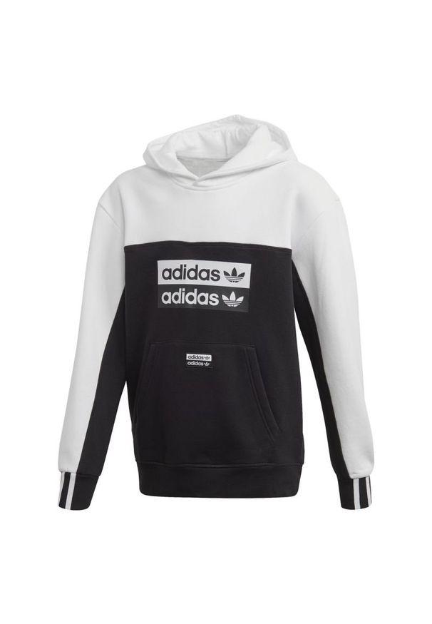 Bluza Adidas w paski, klasyczna, z kapturem