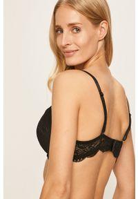 Emporio Armani Underwear - Emporio Armani - Biustonosz. Kolor: czarny. Rodzaj stanika: biustonosz z fiszbinami