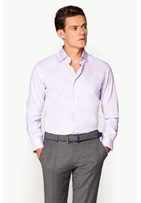 Lancerto - Koszula Fioletowa Lavanda. Kolor: fioletowy. Materiał: tkanina, bawełna. Styl: elegancki