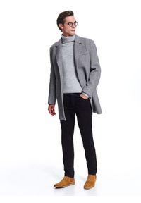 Brązowe spodnie TOP SECRET klasyczne, w kolorowe wzory
