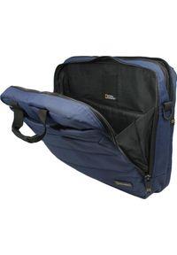 Niebieska torba na laptopa National Geographic