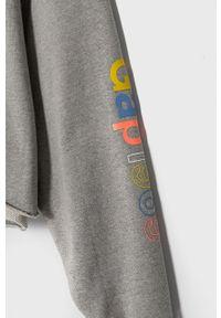 GAP - Bluza bawełniana. Kolor: szary. Materiał: bawełna. Wzór: nadruk
