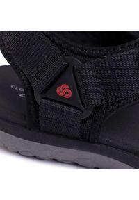 Czarne sandały Clarks klasyczne, na lato