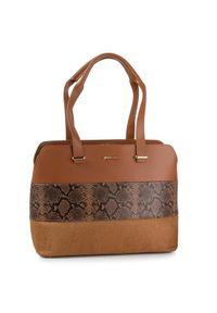 Brązowa torebka klasyczna Gino Rossi