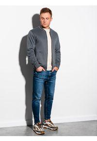 Szara bluza Ombre Clothing bez kaptura, sportowa