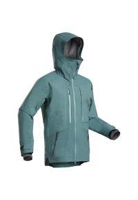 WEDZE - Kurtka narciarska męska Wedze Freeride JKT SKI FR900. Kolor: zielony. Materiał: materiał. Długość: długie. Sport: narciarstwo