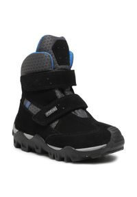 Czarne buty zimowe Bartek z cholewką