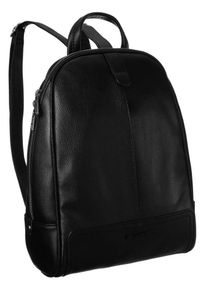 DAVID JONES - Plecak damski czarny David Jones CM6014 BLACK. Kolor: czarny. Materiał: skóra ekologiczna. Styl: klasyczny