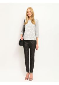 Czarne spodnie TOP SECRET na zimę, do pracy, długie, eleganckie