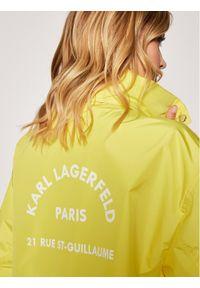 Żółta parka Karl Lagerfeld z dekoltem karo