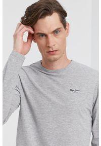 Pepe Jeans - Longsleeve ORIGINAL BASIC. Okazja: na co dzień. Kolor: szary. Materiał: dzianina. Długość rękawa: długi rękaw. Wzór: gładki. Styl: casual