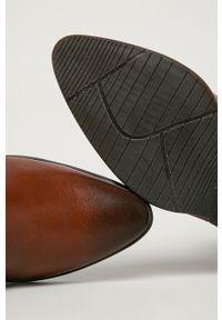 Marco Tozzi - Botki. Kolor: brązowy. Materiał: guma. Obcas: na obcasie. Wysokość obcasa: średni