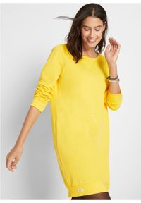Żółta sukienka bonprix tulipan