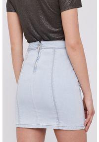 Morgan - Spódnica jeansowa. Okazja: na co dzień. Kolor: niebieski. Materiał: jeans. Styl: casual