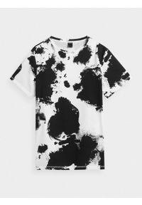 outhorn - T-shirt oversize z nadrukiem damski. Okazja: na co dzień. Materiał: bawełna, materiał. Wzór: nadruk. Styl: sportowy, casual