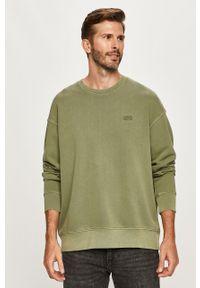 Zielona bluza nierozpinana Levi's® z aplikacjami, na spotkanie biznesowe, bez kaptura
