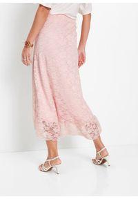 Różowa spódnica bonprix długa, elegancka