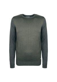 Sweter Trussardi Jeans z aplikacjami, z okrągłym kołnierzem, casualowy, na co dzień
