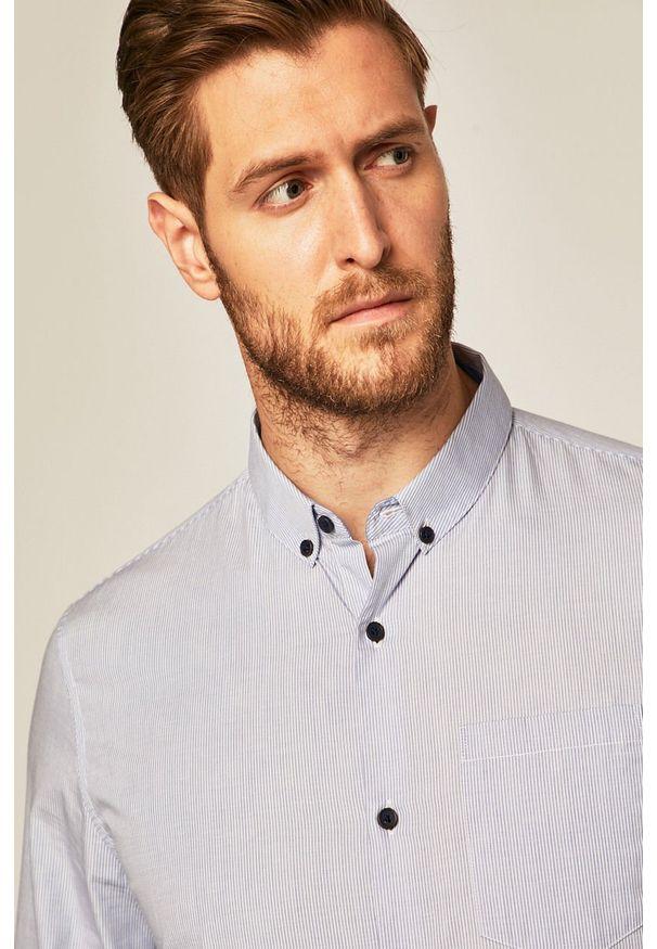 Niebieska koszula medicine długa, button down