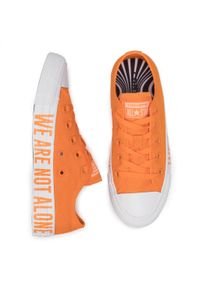 Pomarańczowe półbuty casual Converse z cholewką