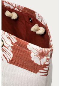 Brązowa torba plażowa Roxy duża, na ramię