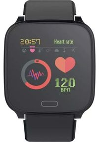 Czarny zegarek FOREVER smartwatch