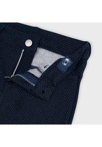 Mayoral Spodnie materiałowe 4552 Granatowy Slim Fit. Kolor: niebieski. Materiał: materiał