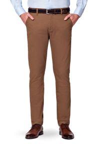 Beżowe spodnie Lancerto w kolorowe wzory, casualowe, na co dzień