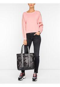 Różowy sweter klasyczny Emporio Armani