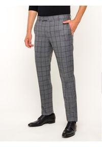 Strellson Spodnie garniturowe 30019289 Szary Slim Fit. Kolor: szary