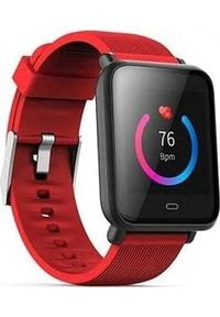 Smartwatch Roneberg RQ9 Czerwony. Rodzaj zegarka: smartwatch. Kolor: czerwony