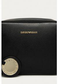 Emporio Armani - Torebka. Kolor: czarny. Rodzaj torebki: na ramię