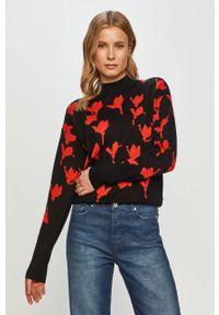 Czarny sweter Hugo casualowy, na co dzień, z długim rękawem, długi