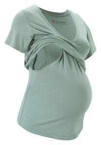 Shirt ciążowy i do karmienia piersią LENZING™ ECOVERO™ bonprix dymny zielony. Kolekcja: moda ciążowa. Kolor: zielony. Materiał: wiskoza