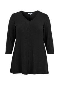 Czarny sweter Zhenzi melanż, długi