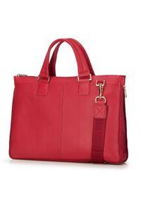 Czerwona torba na laptopa Wittchen elegancka