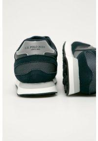 Czarne sneakersy U.S. Polo Assn z cholewką, na sznurówki