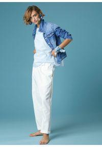 Niebieska kurtka Alessia Santi klasyczna, z haftami